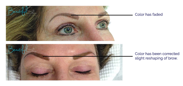 Shaded Brow Color Correction